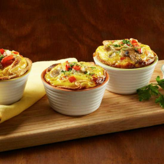 Receta Mini quiche de pan blanco Bimbo.